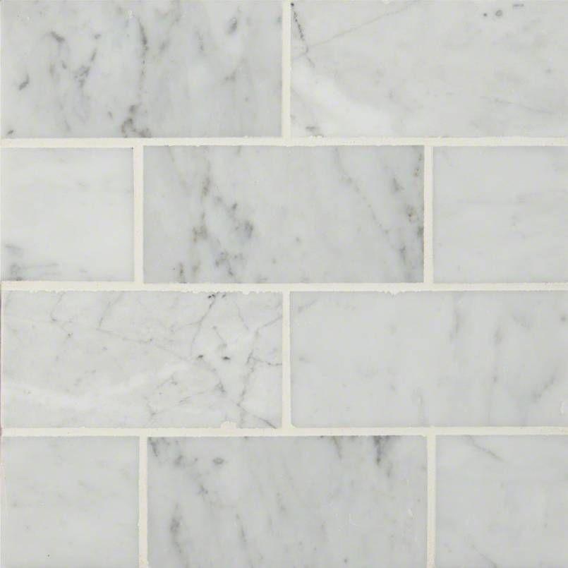 carrara white subway tile 3x6 marble