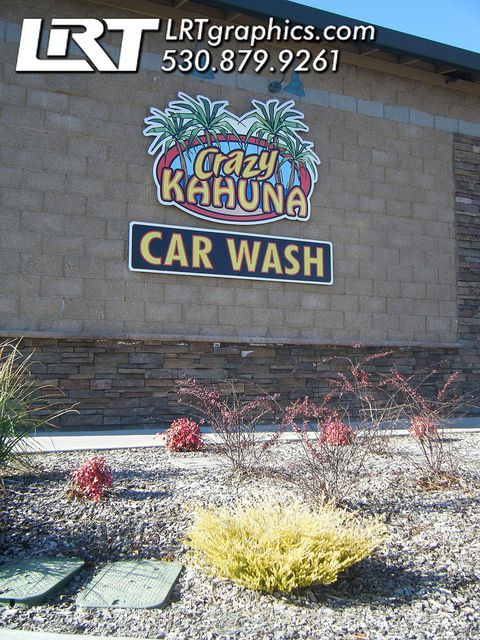 Car Wash Chico >> Lrt Graphics Car Wash Building Signs Lrt Graphics Signs Building