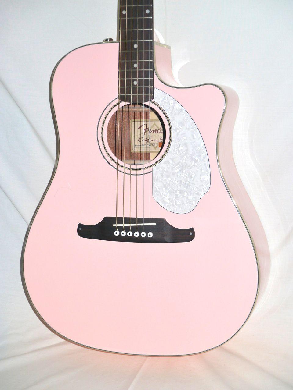 Fender Sonoran Sce Acoustic Electric Guitar Shell Pink Pink Guitar Acoustic Electric Guitar Guitar