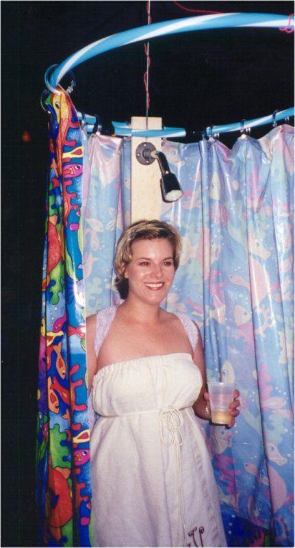 Hahah Diy Shower Curtain Costume Hula Hoop Hooks Nice