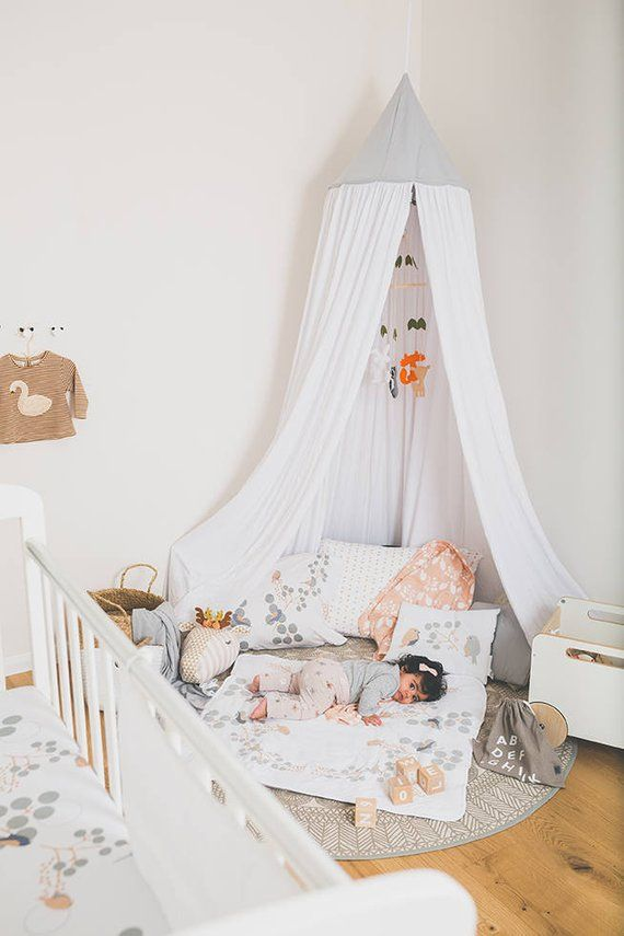 kids Play and bed Canopy White /organic cotton hanging Tent upper part canvas fabric kids tent m & kids Play and bed Canopy White /organic cotton hanging Tent upper ...
