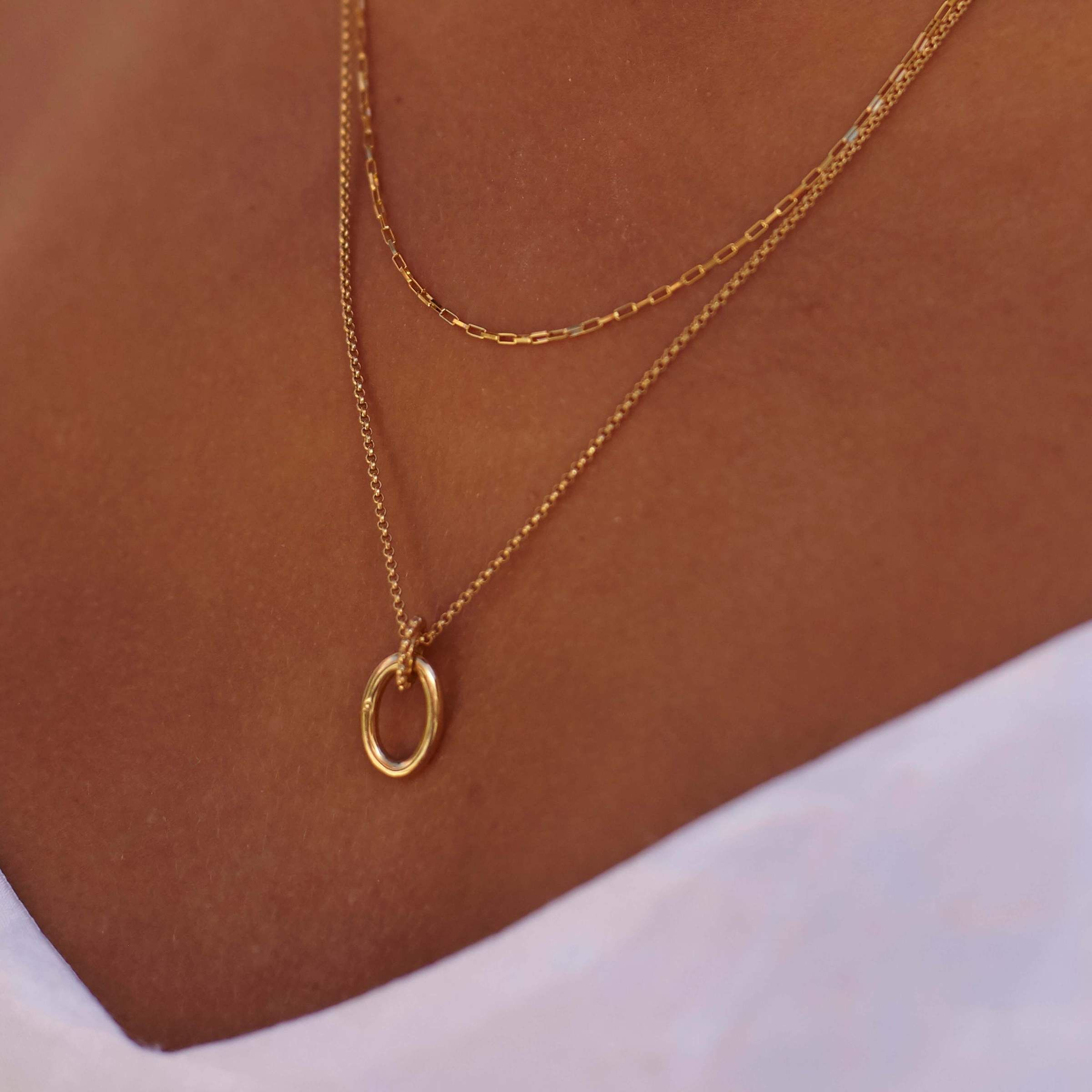 gifts for her textured oval necklace layering necklace Gold oval necklace-textured pendant-18k gold plated