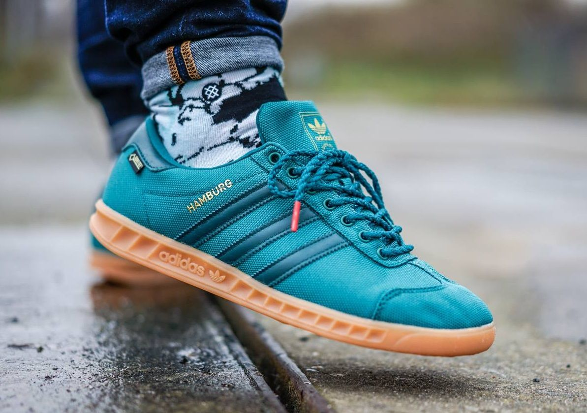 Adidas Originals Hamburg Gore Tex Teal Sneakers