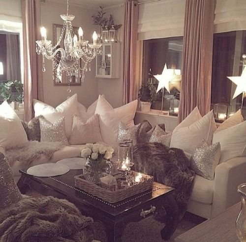 Ideas For Decorating Plush Pink Sofa Living Room: So Pretty & Romantic. Dreamy And Plush