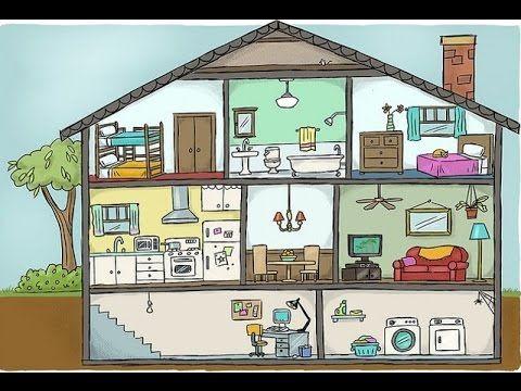 Las partes de la casa en franc s vocabulario les pi ces for La maison muebles