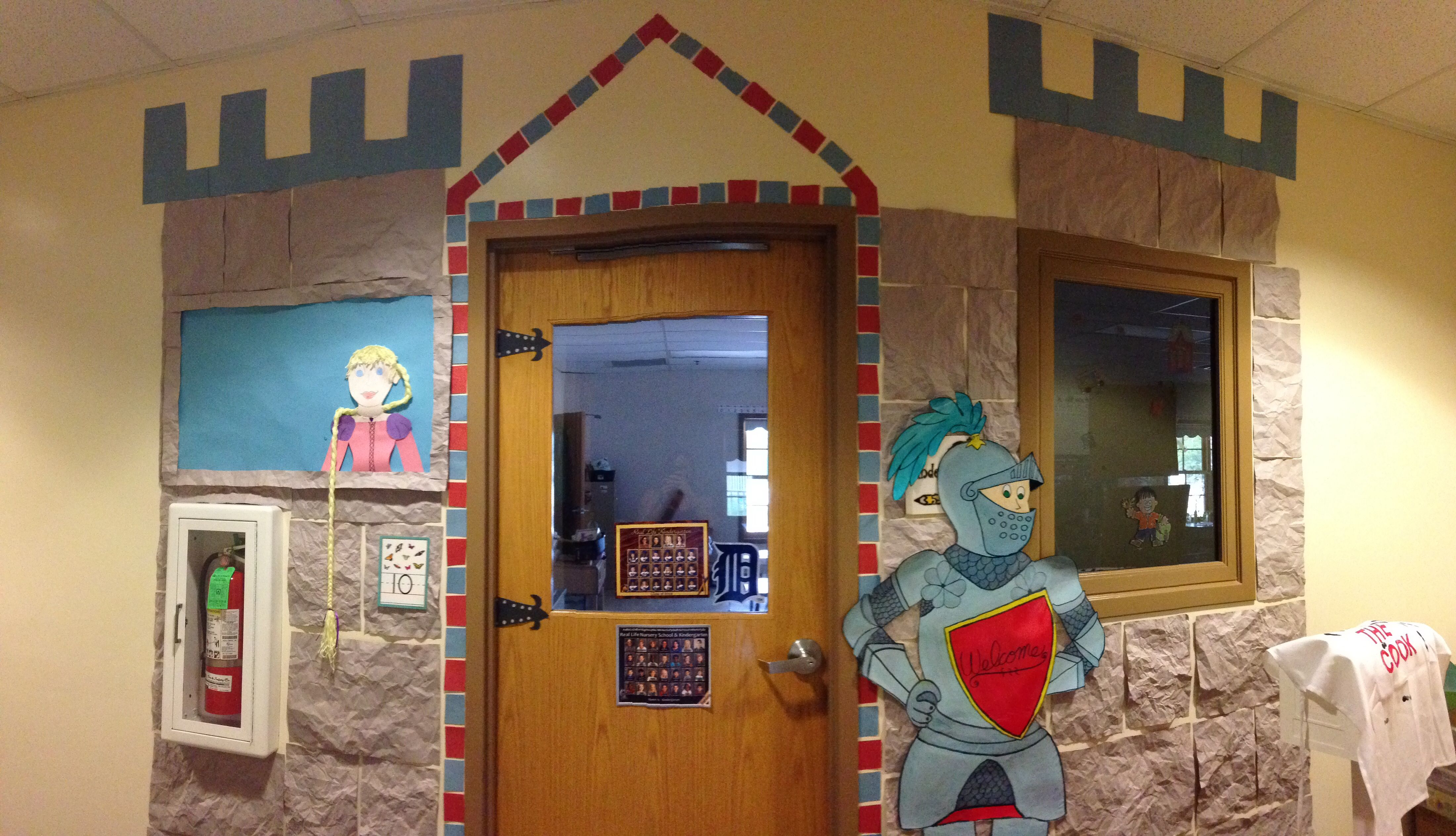 Classroom Decor Castle ~ Castle themed classroom with a knight and rapunzel my