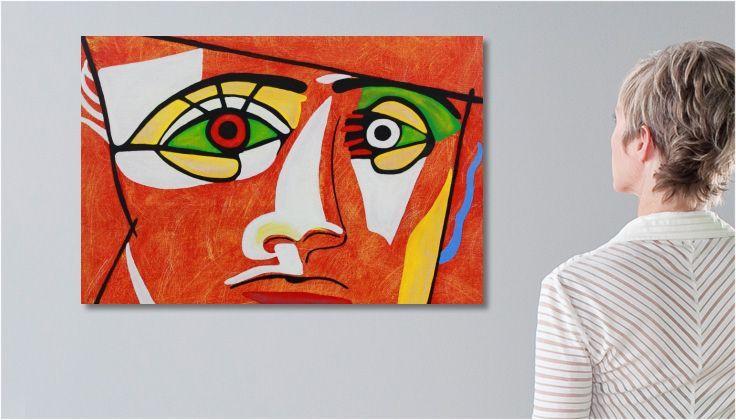 Tableau Peinture dessin enfant abstrait une toile de pascalle