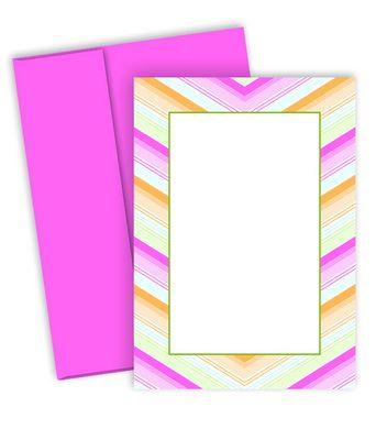 Chevron Wedding Invites and Envelopes