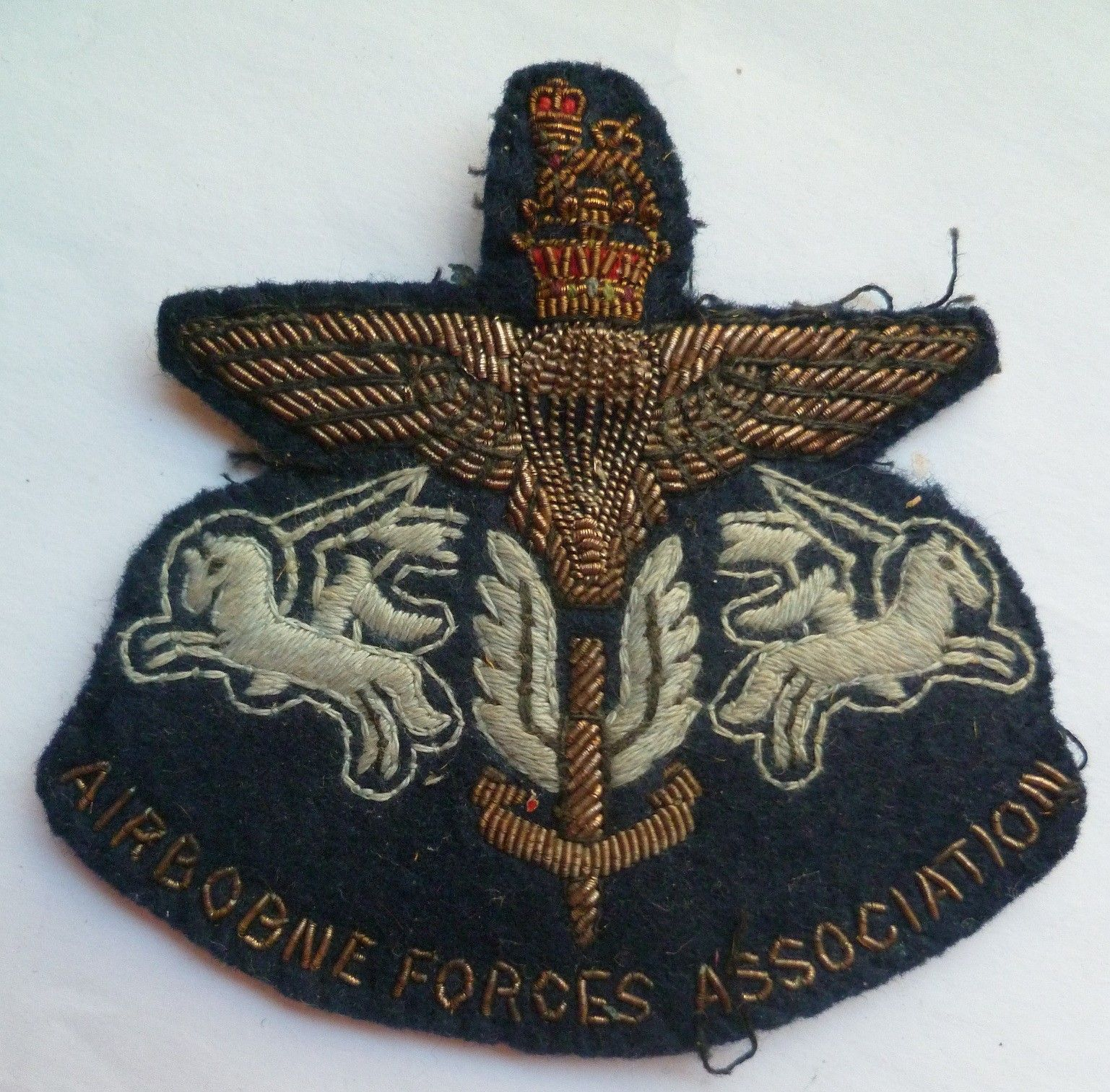 Airborne Forces Association Cloth Bullion Badge A nice