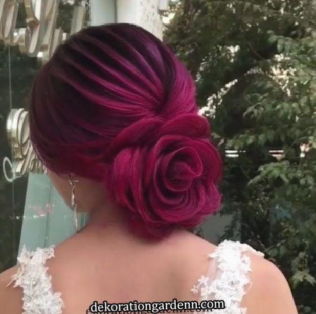 23 Evergreen Romantic Bridal Hairstyles: Hairstyles Easy Videos Funeral #haircolor #longhair