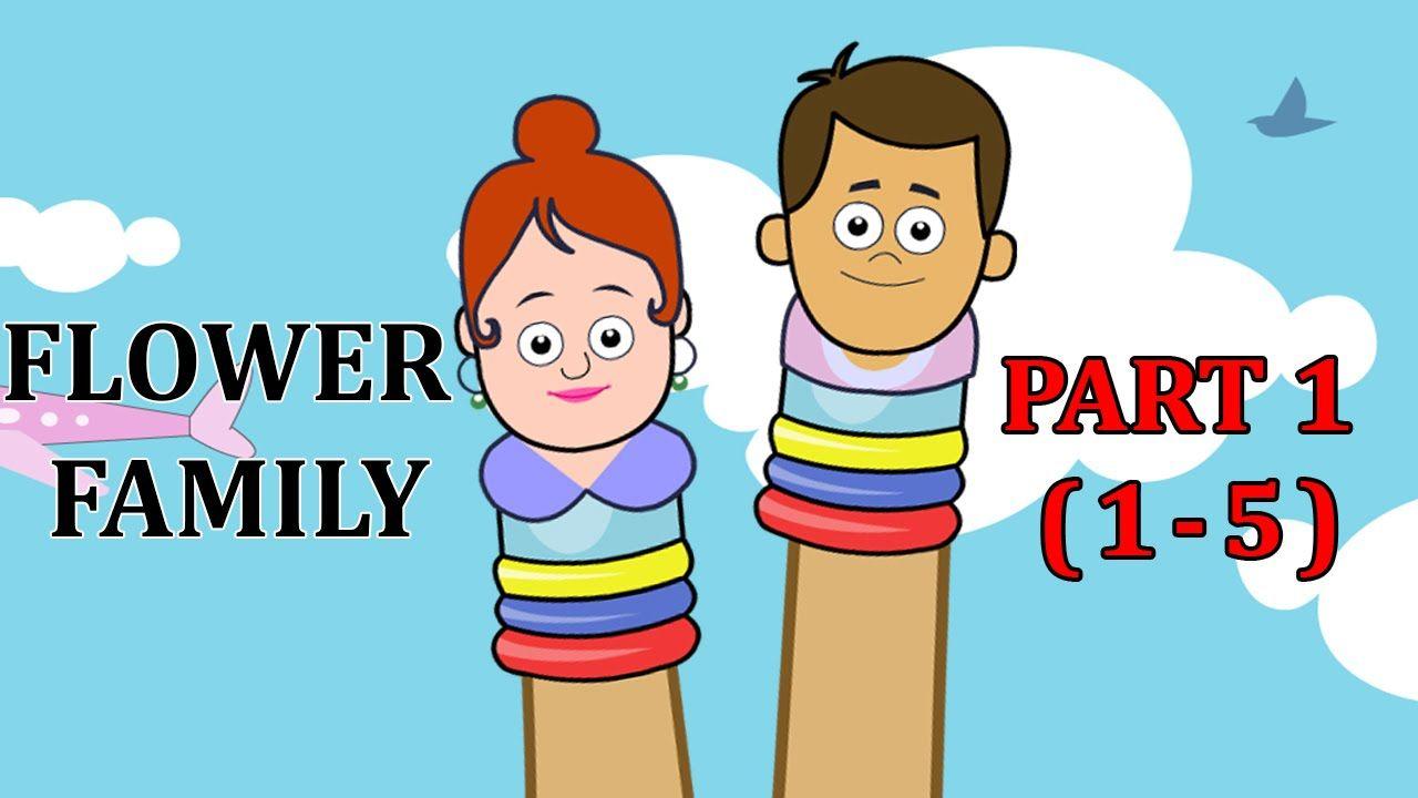 Finger Family Flower Songs For Children | Flower Daddy Finger ...
