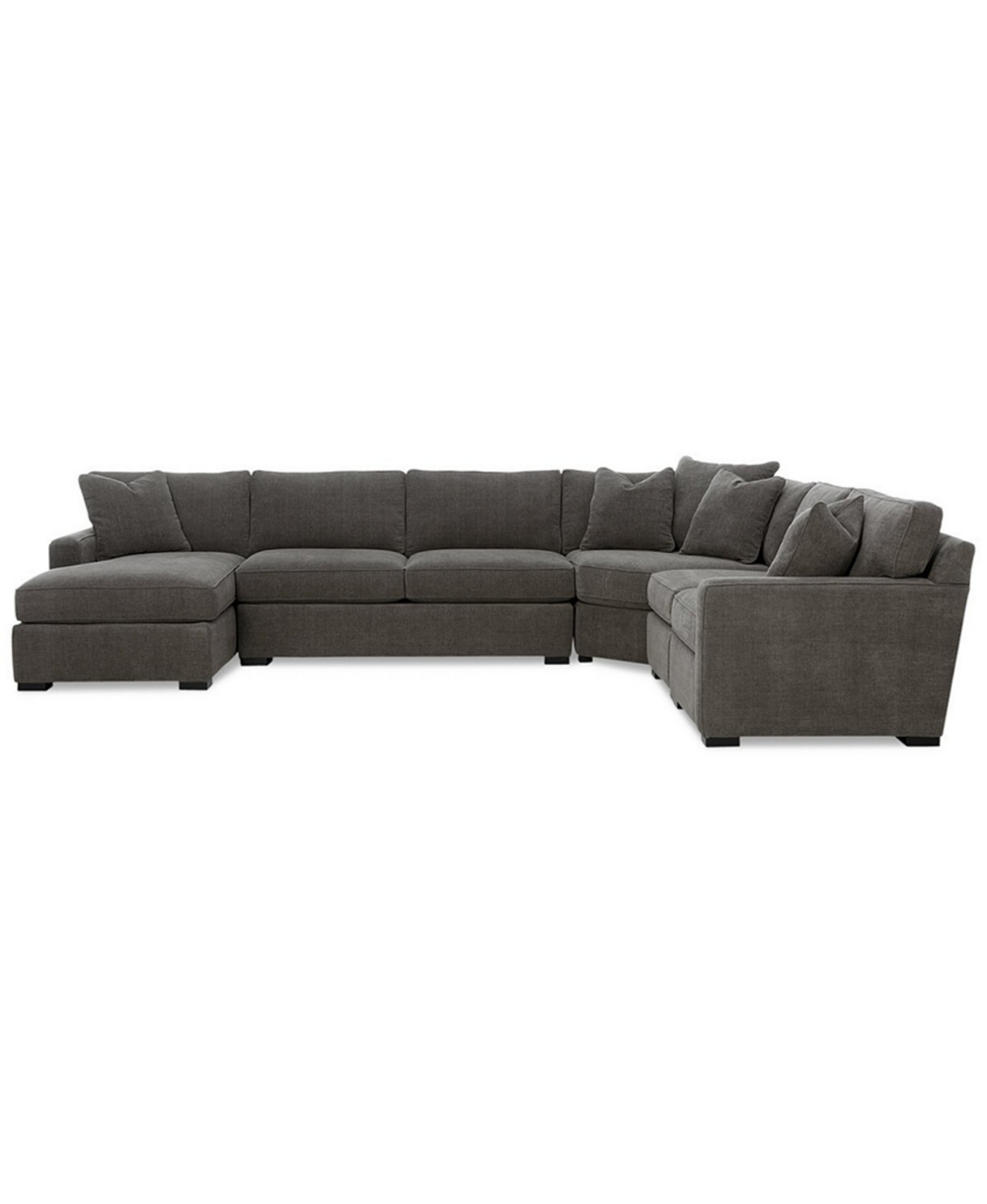 Furniture Radley 5 Piece Fabric Chaise Sectional Sofa Created For Macy S Reviews Furniture Macy S Fabric Sectional Sofas Custom Sofa Sectional Sofa