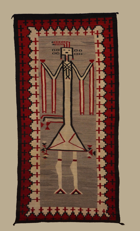 Navajo Yei Rug Circa 1920 Weaving Art