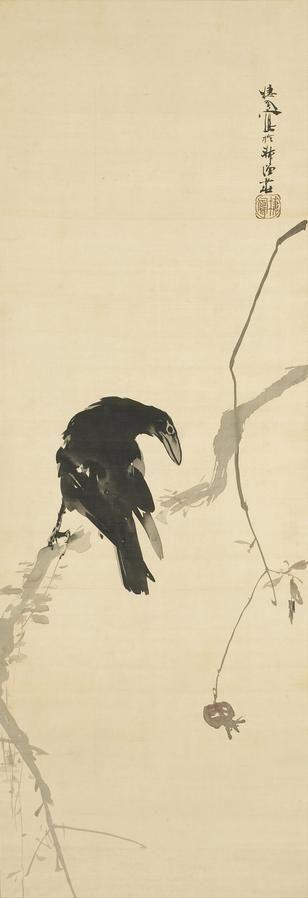 Takeuchi Seiho (1864-1942 ) Crow in Winter