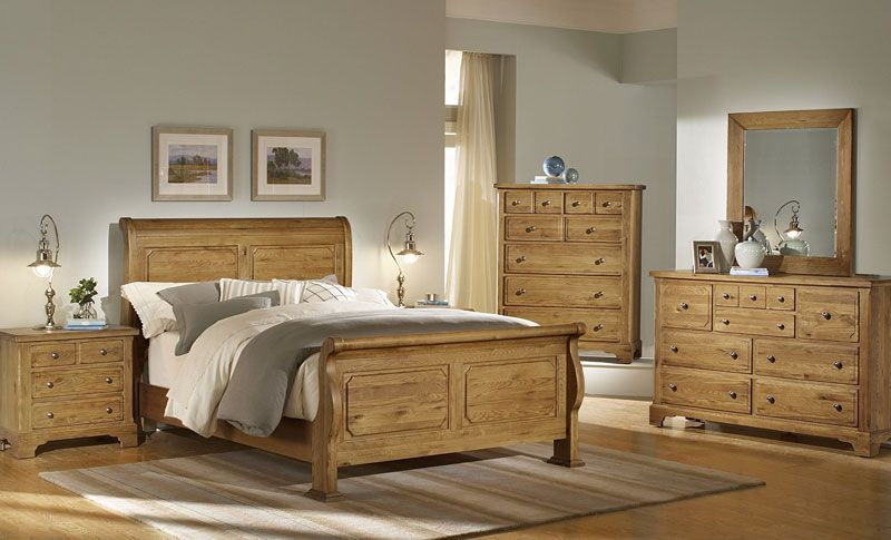 Solid Oak 4 Piece Group Grand Home Furnishings K2689 Oak Bedroom Furniture Sets Wood Bedroom Furniture Sets Oak Bedroom Furniture