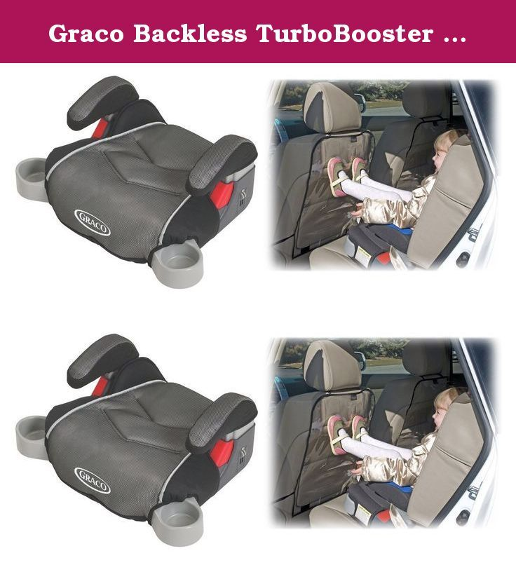 Graco Backless TurboBooster Booster Car Seat With Backseat Kick Protectors Galaxy Your Growing
