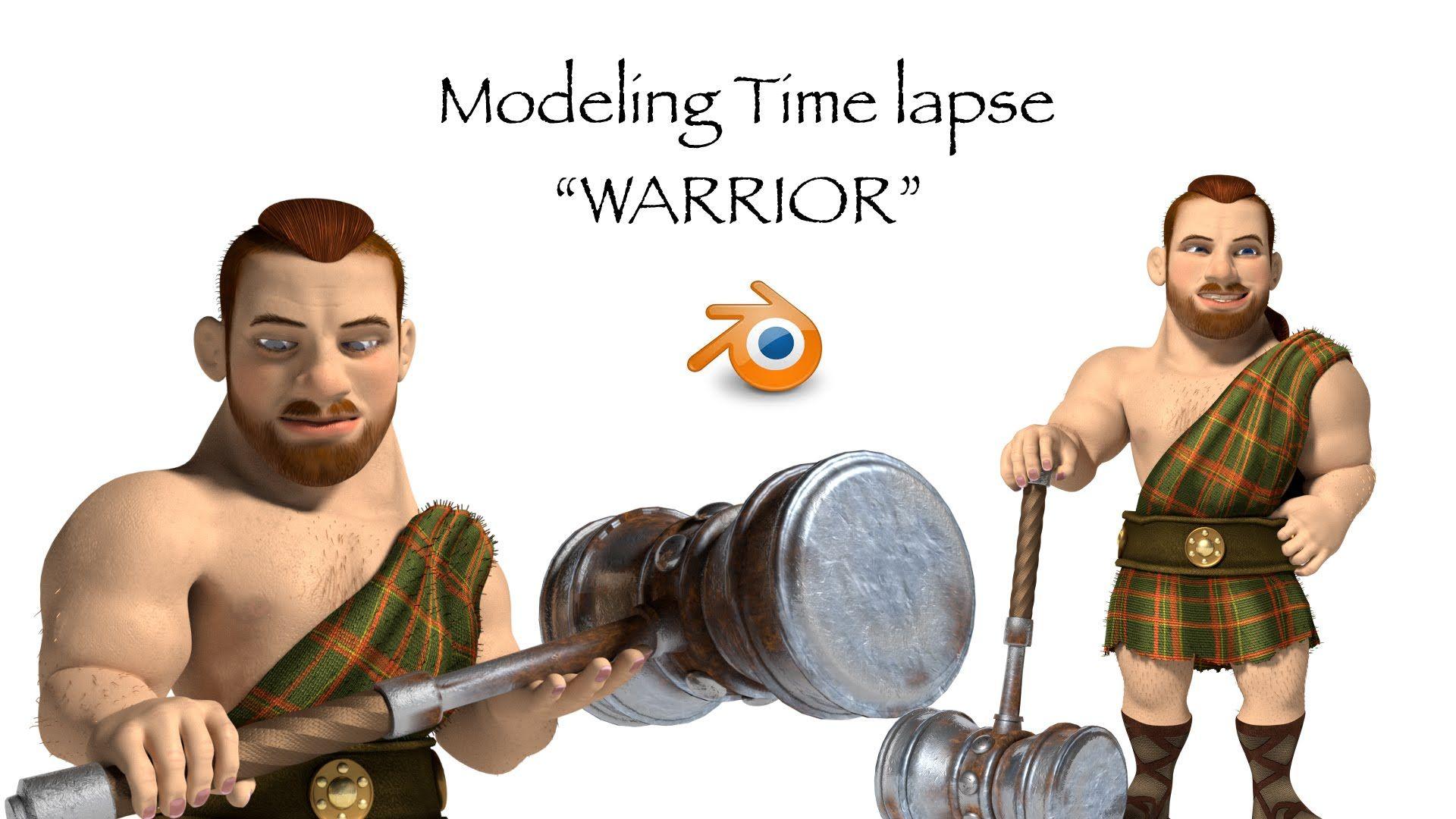 Blender B3D Modeling a celtic warrior character in Blender