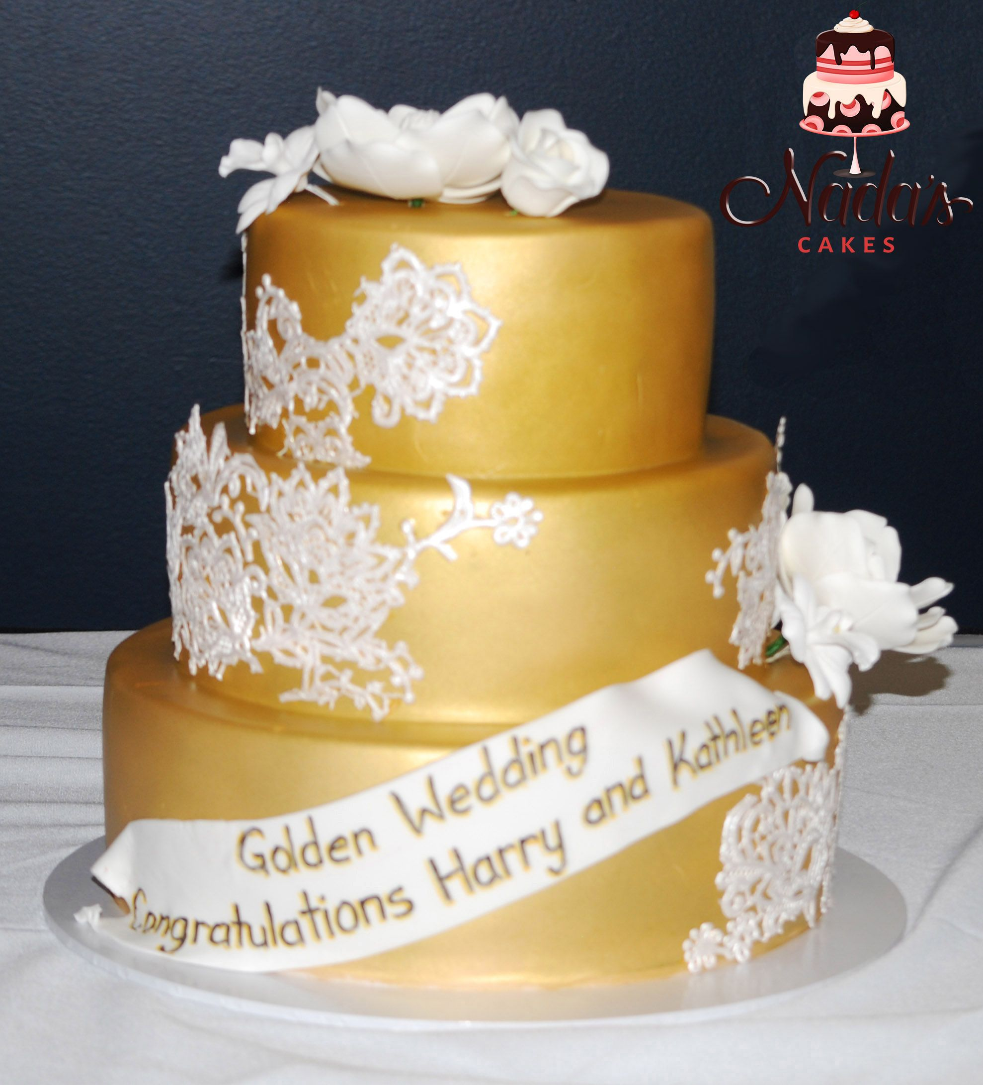 Gold Wedding Anniversary Cake | Special Occasion cakes | Pinterest ...