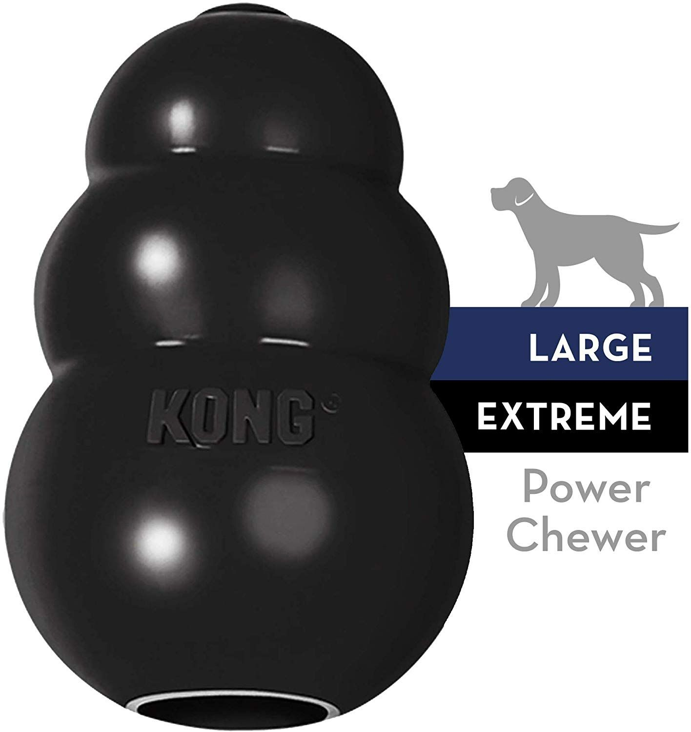 Kong Extreme Dog Toy Toughest Natural Rubber Black Fun To