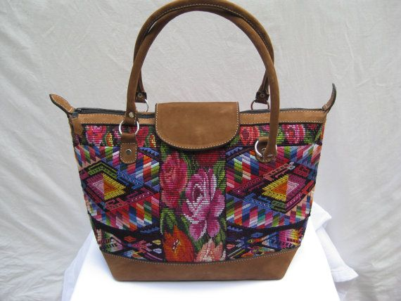 Beautiful Tote Bag Made From Vintage Guatemalan Chichicastenango Huipil Textile With Quality