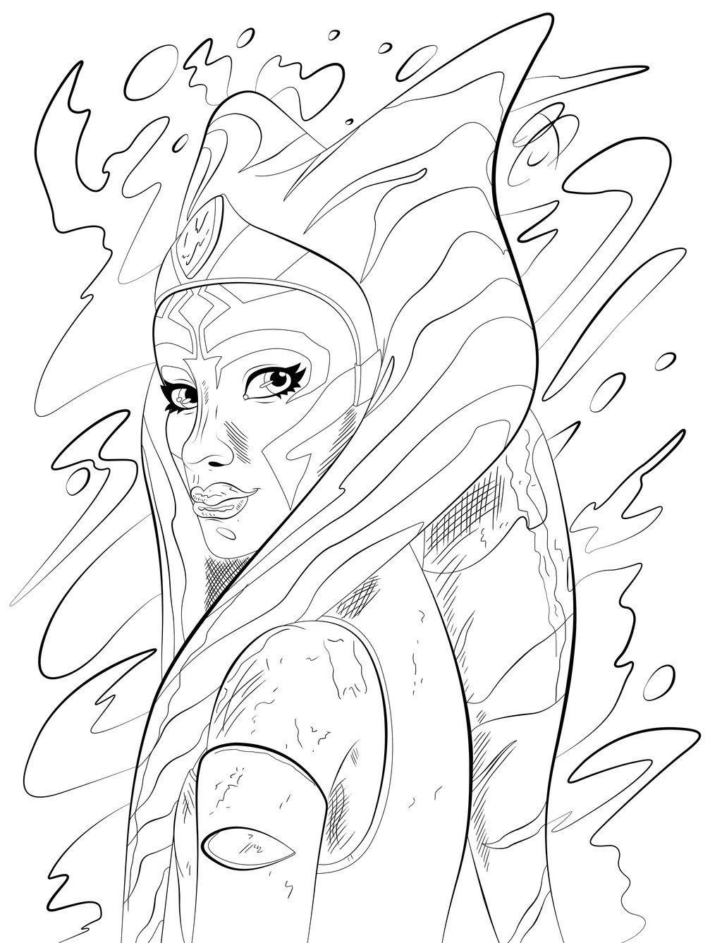 Coloring Pages Ahsoka Tano By RCBrock On DeviantArt