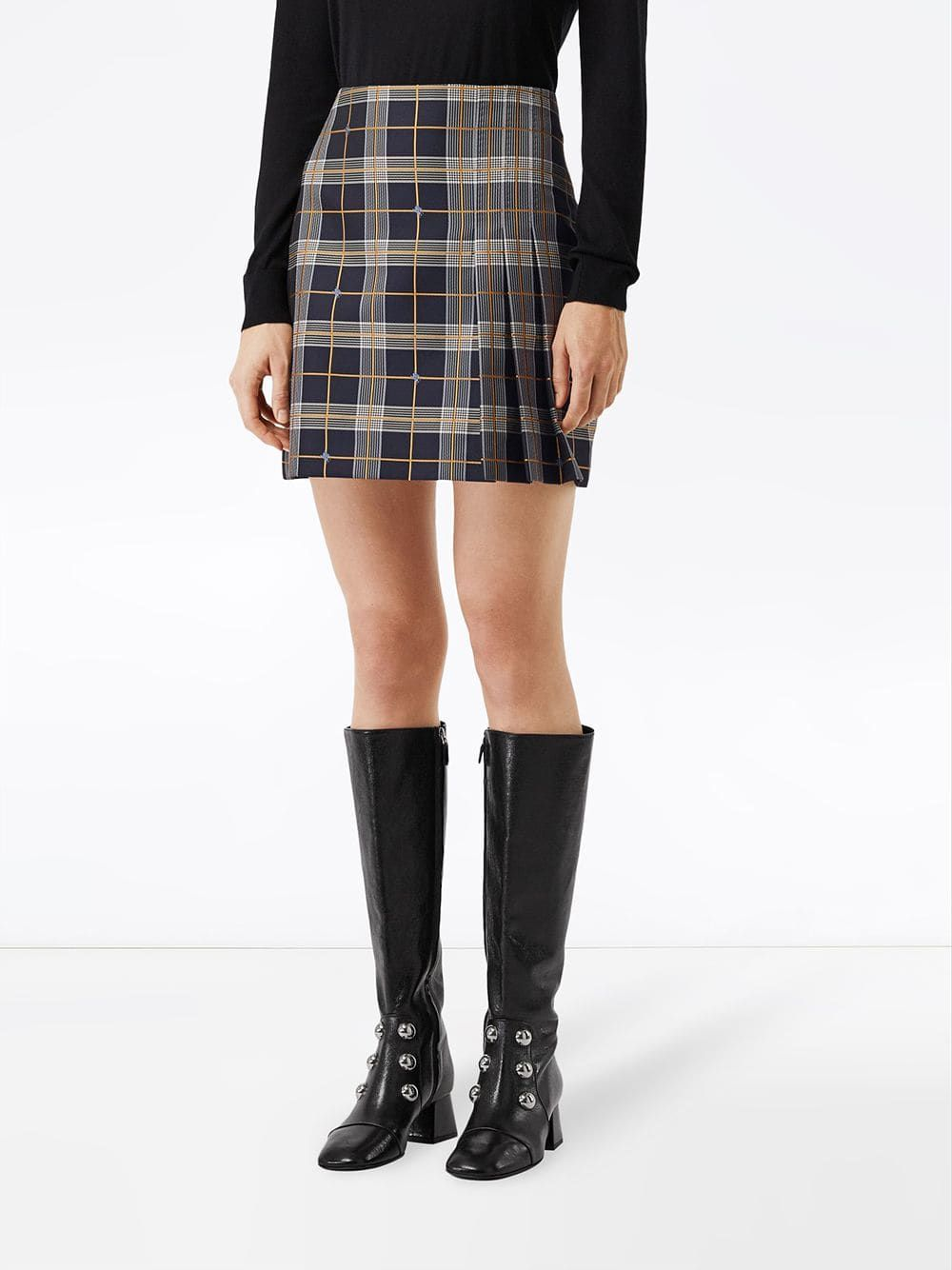 1e0166dae4 Burberry Pleat Detail Check Mini Skirt | SKIRTS | Skirts, Check mini ...