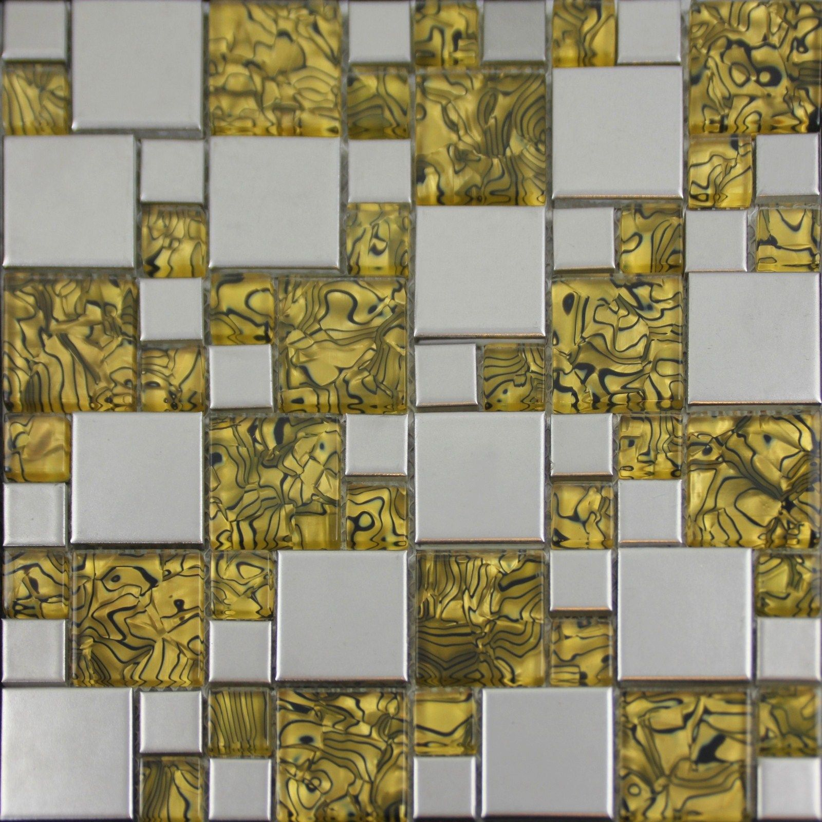 - Gold Glass And Porcelain Square Mosaic Tile Designs Plated Ceramic