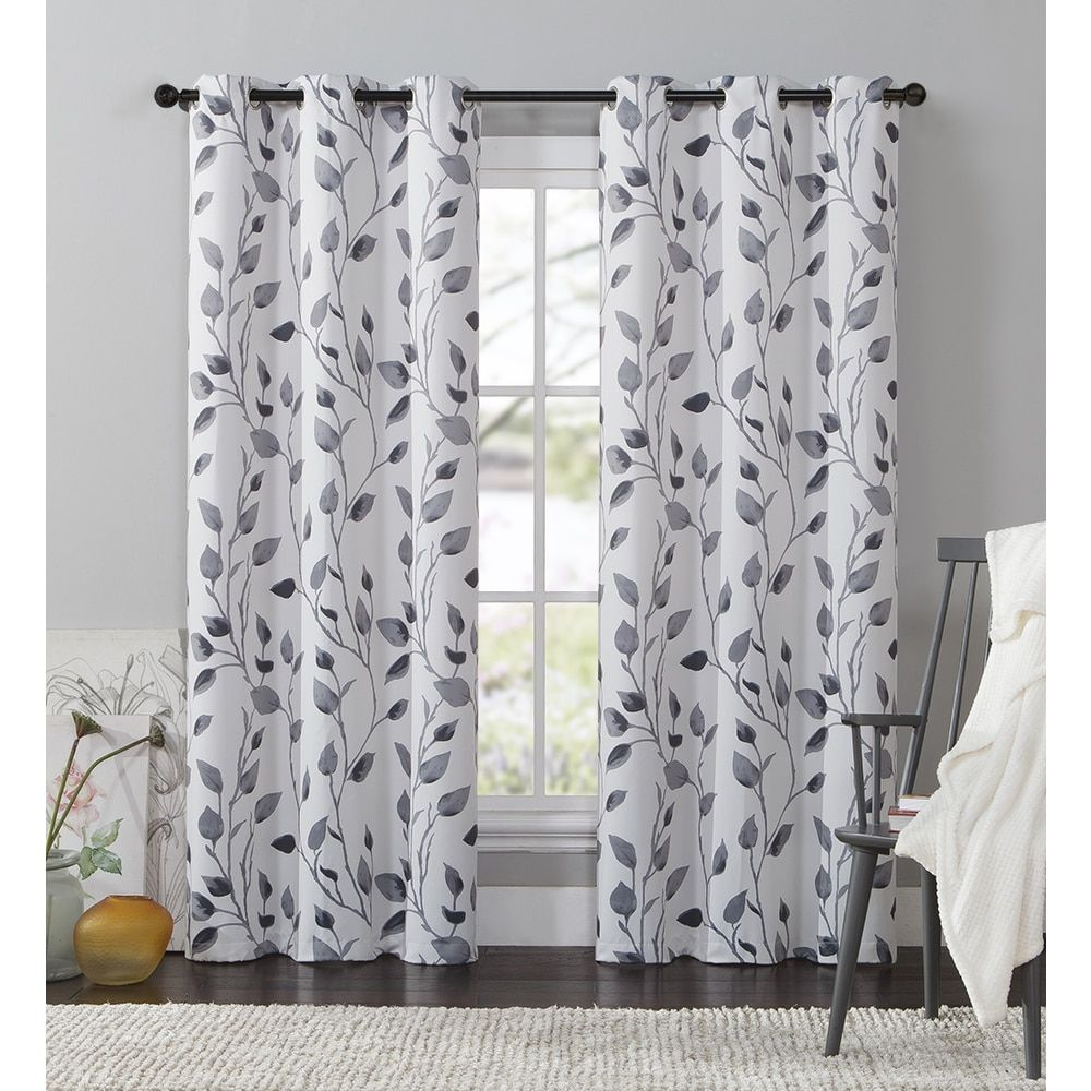 Bed bath and beyond window shades  vcny home leaf window curtain   or inch panel  fÜggÖny