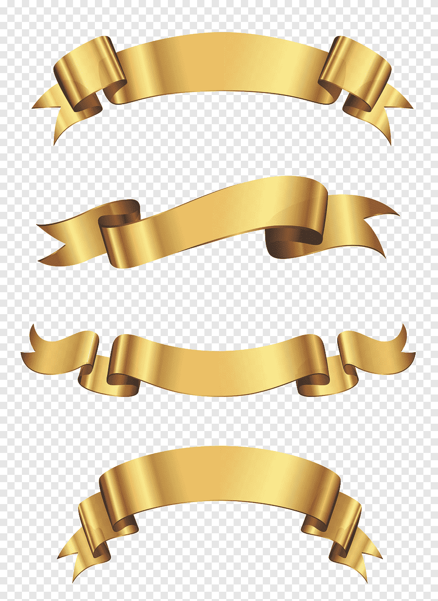 Vinyl Banners Sticker Advertising Ribbon Golden Banner Set Four Gold Ribbons Angle Gold Png In 2021 Gold Clipart Gold Ribbons Gold Border Design