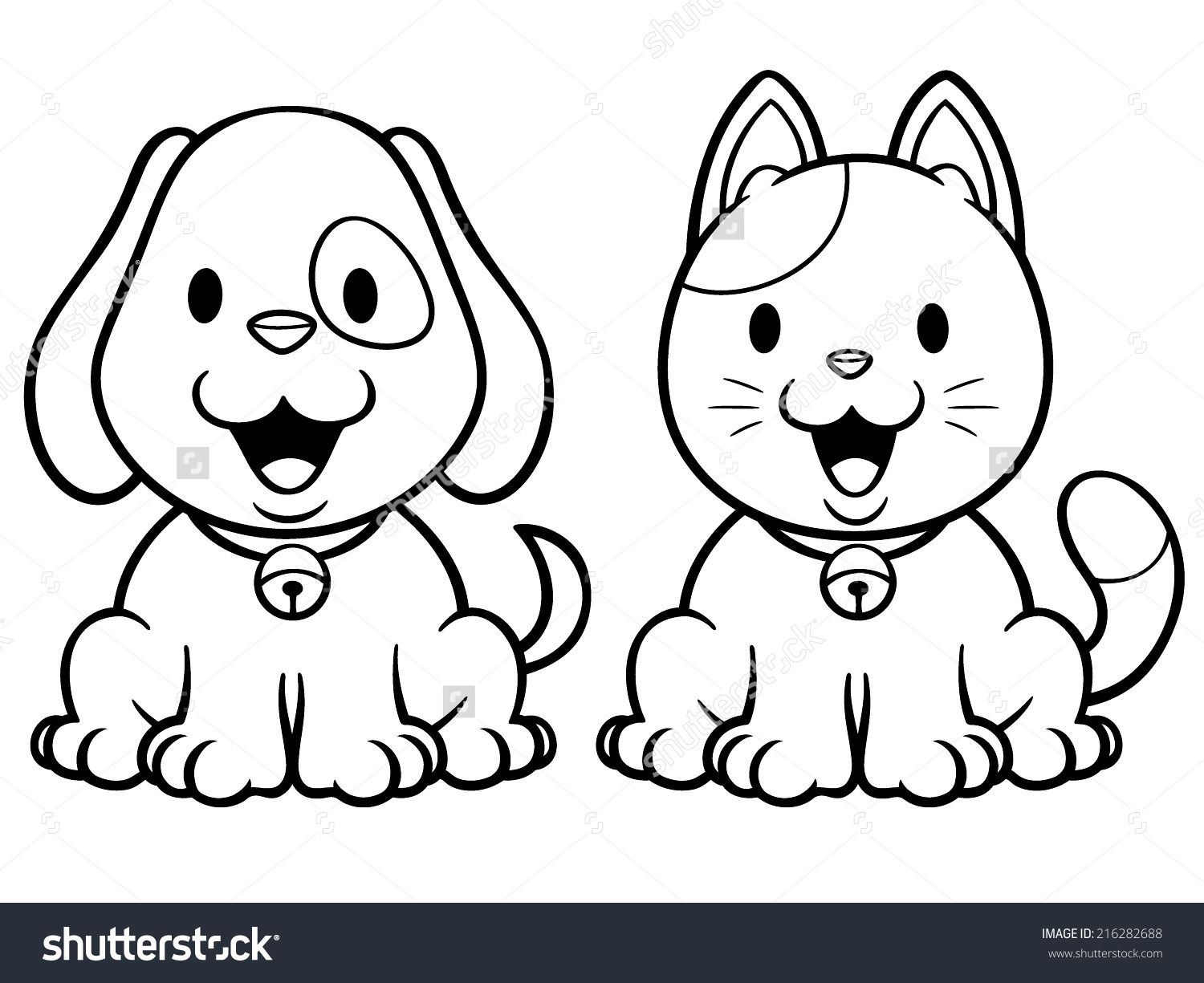 39+ Cat dog cartoon coloring pages ideas in 2021