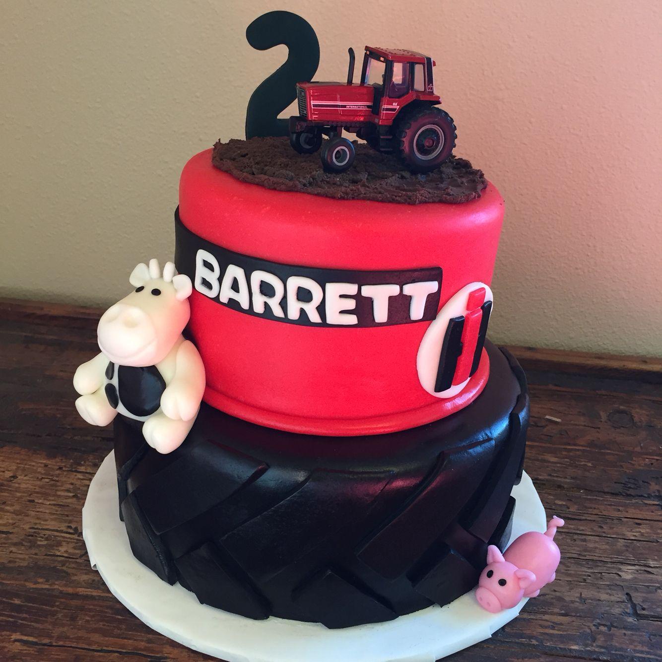 Case Ih Red Tractor Birthday Cake It Was A Huge Hit Tractor Birthday Cakes Red Tractor Birthday Baby Boy Birthday Cake