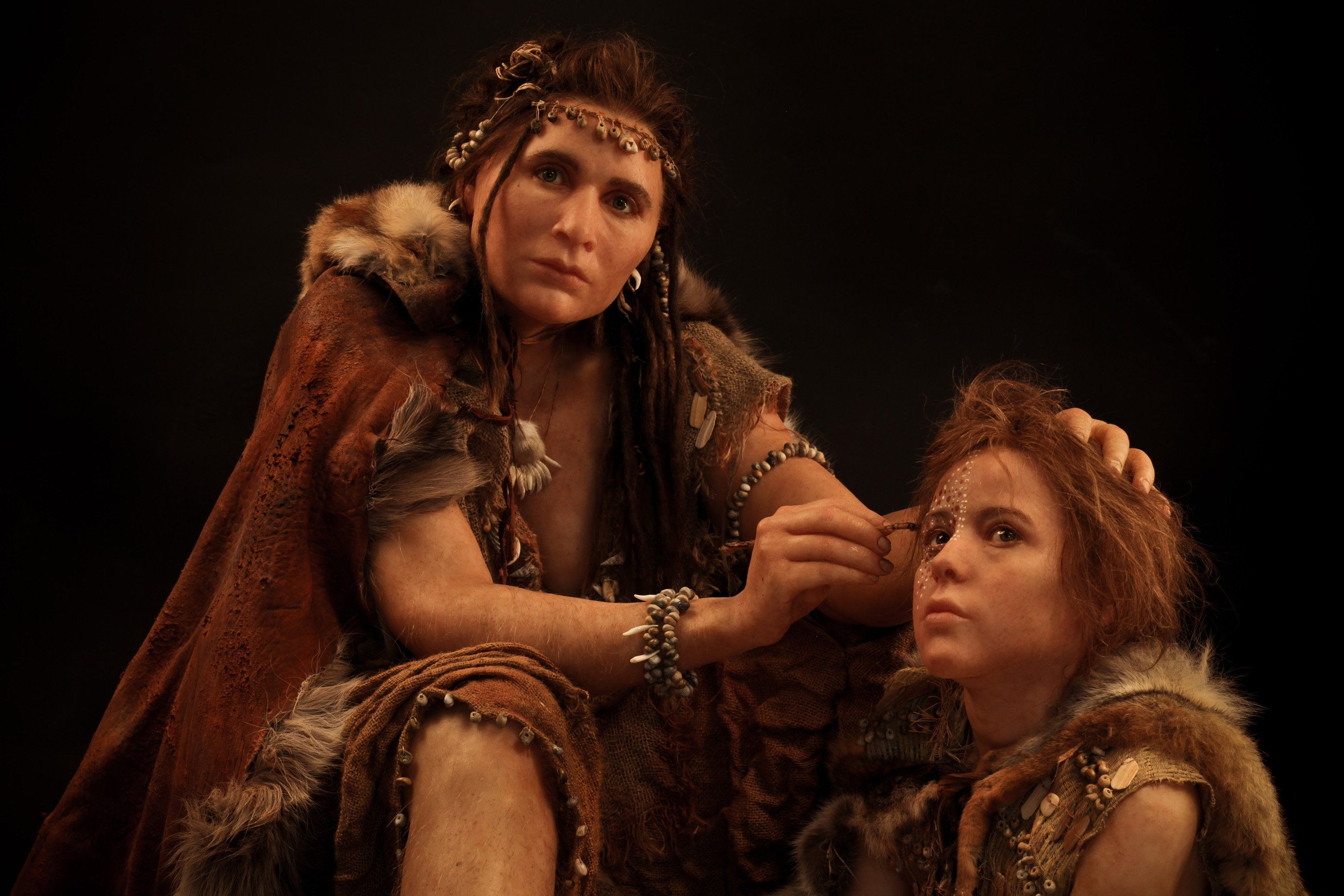 Reconstructed Stone Age People They Look Lie You Just