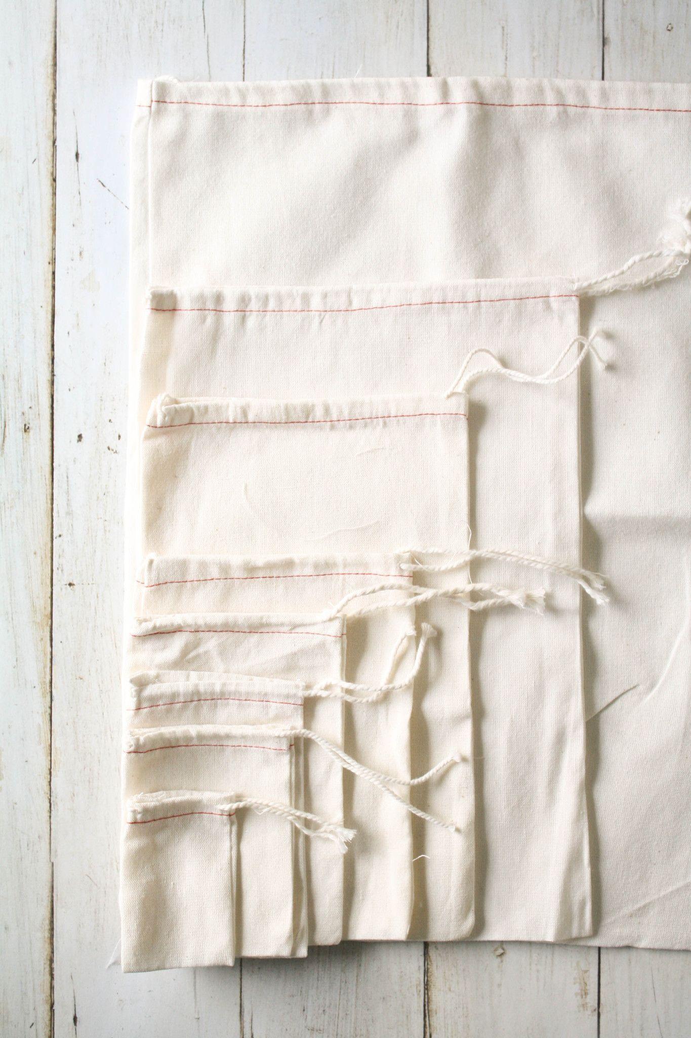Cotton Drawstring Bags Zero Waste Cotton Drawstring