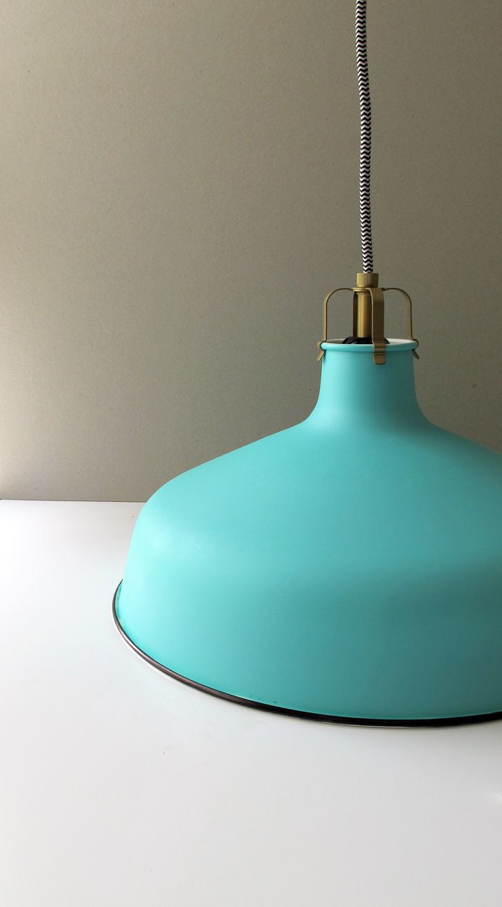 Ikea Hack Enamel Vintage Style Pendant Using Spray Paint And A