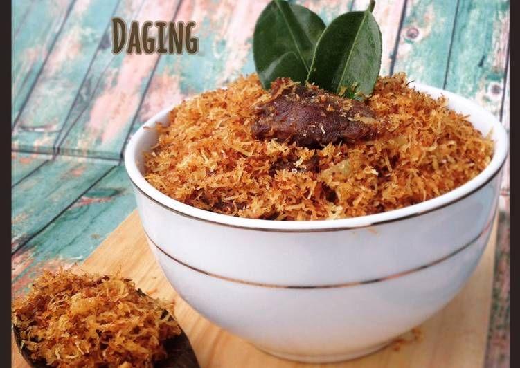 Resep Serundeng Daging Gurih Nikmat Oleh Ibu Malka Resep Daging Resep Daging Sapi