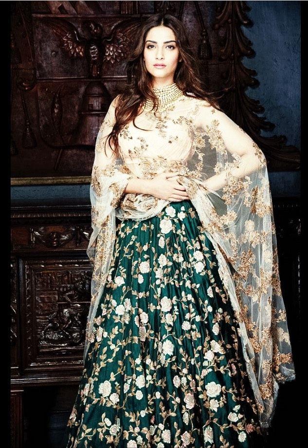 Pin by Sam on Green Lehenga | Bollywood fashion, Indian ...