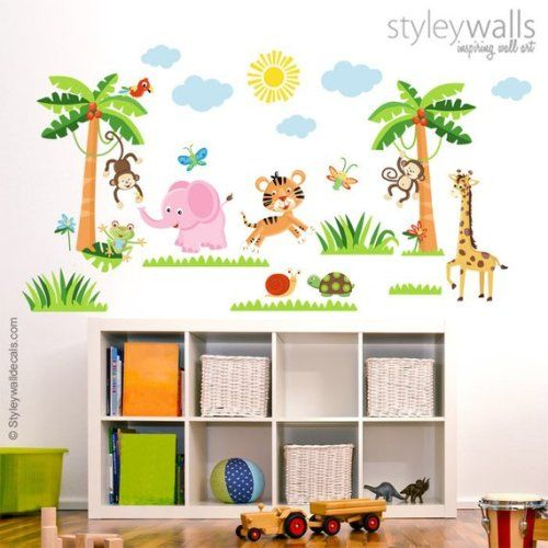 Wandtattoo Urwald Get It Now Jungle Animals Wall Decal Rain Forest Wall