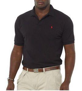 Polo Ralph Lauren Men's Classic Fit Mesh Polo, BLACK , BIG & TALL
