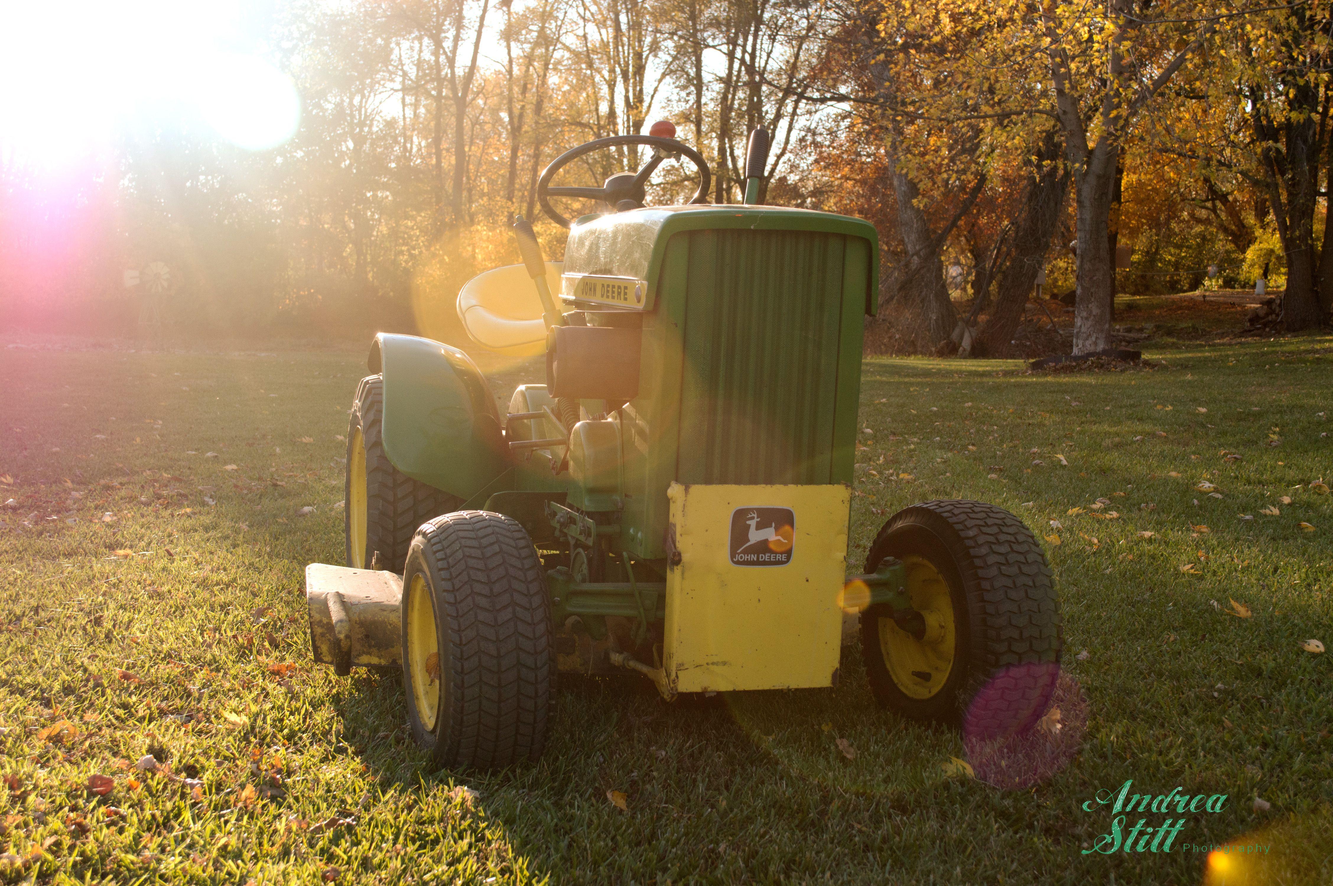 68 John Deere Garden Tractor Photo Shoot | Copyright www ...