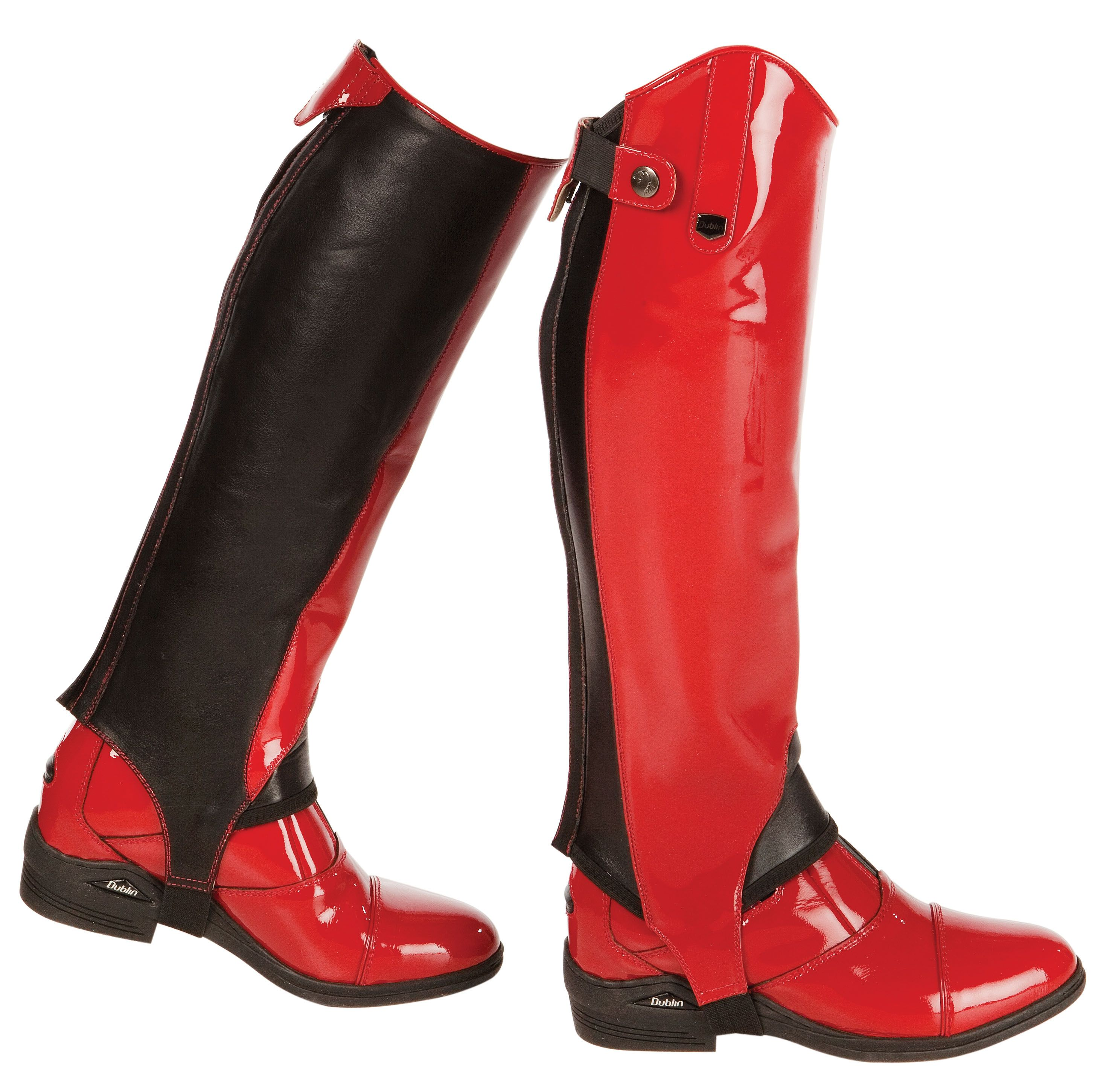 Dublin Intensity Red Paddock Boots And Half Chaps All