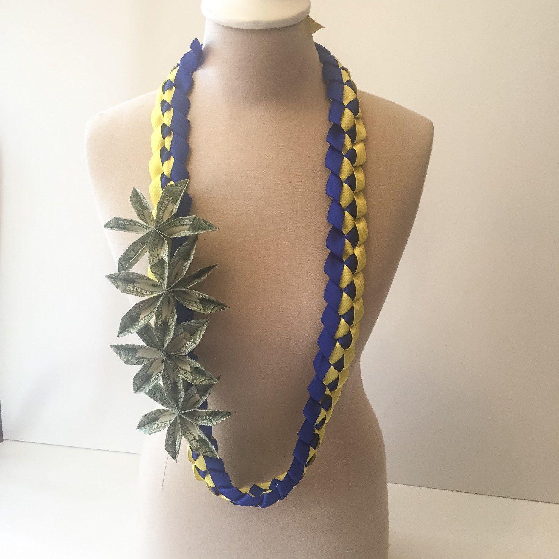 Graduation money leigrosgrain ribbon w 4x flowers 12