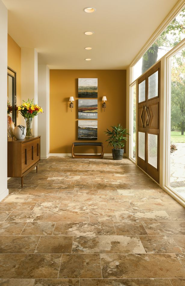Interesting Pattern Here Using Alterna Reserve Luxury Vinyl Tile In Different Shapes And Sizes Ar Luxury Vinyl Tile Flooring Luxury Vinyl Tile Luxury Vinyl