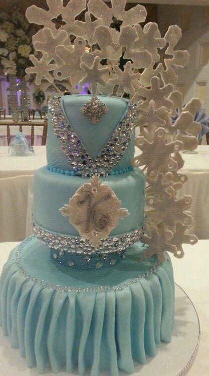 Sweet 16 Cake Winter In Wonderland Theme In 2019 Sweet
