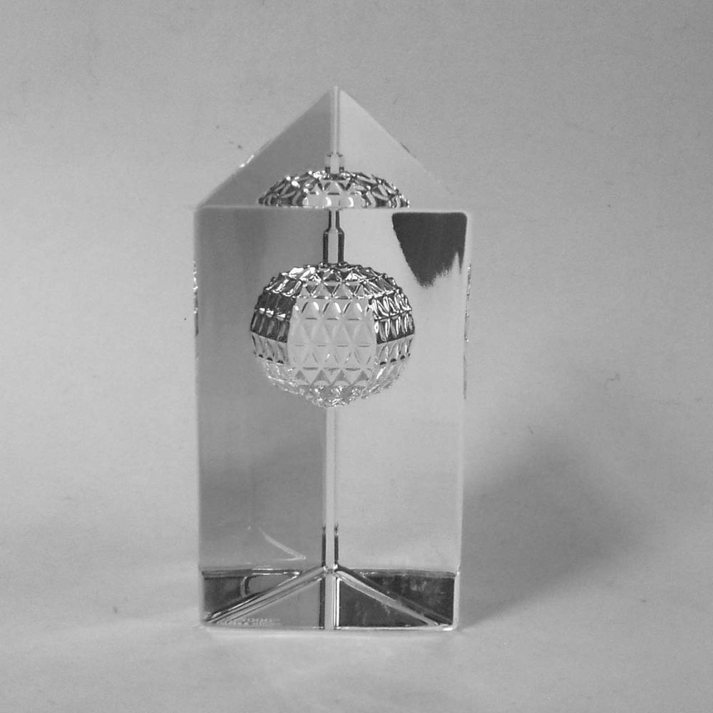 Waterford Crystal 2000 Times Square Star of Hope Prism Paperweight EX #WaterfordCrystal