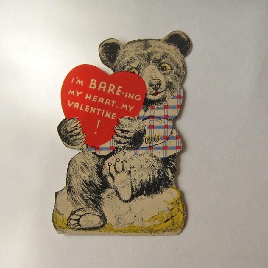 Vintage Bear Valentine Valentine S Day Card Usa Valentine