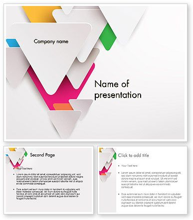 Layered Triangles Powerpoint Template Powerpoint Templates