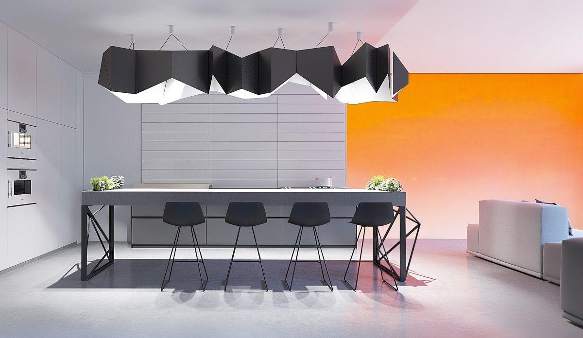 Cool Futuristic Style Home Interiors House Cocinas