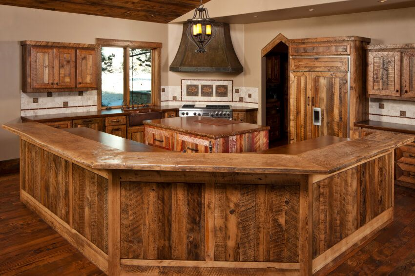 34 Kitchens With Dark Wood Floors Pictures Rustic Country Kitchen Decor Rustic Country Kitchens Small Rustic Kitchens