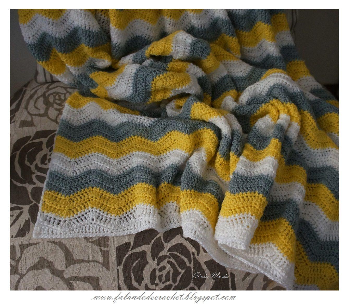 Falando de crochet manta de croche zig zag olivia crochet falando de crochet manta de croche zig zag olivia crochet ripple blanket bankloansurffo Images