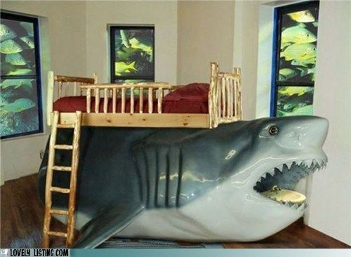 Shark bunk bed! You can play inside the shark. Haha!! | Zeke ...